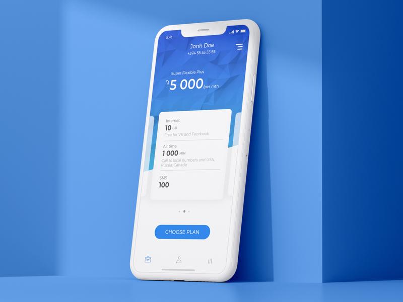 Mobile Telecom App product design sms call internet payment app uiux app mobile telecom