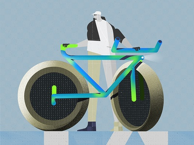 Bike is the futur characterdesign character concept bike illustrator photoshop illustration