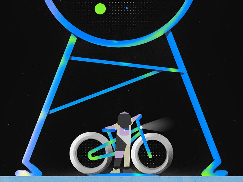 Bike is the futur B shapes graphic design photoshop design illustration romain loubersanes character design animation