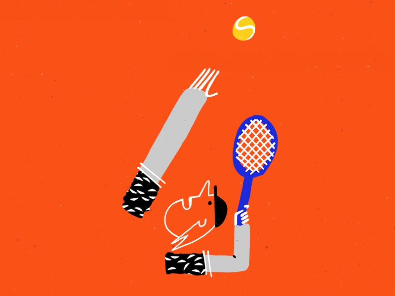Tennis graphic design sport illustration character design