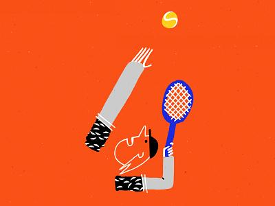 Tennis graphic design sport illustration character design