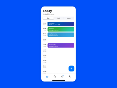 Timetable + To-do list concept animation to-do list timetable ui ux