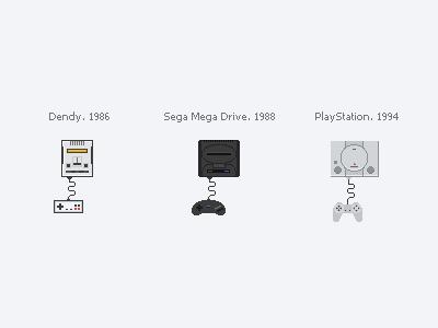 Game consoles game consoles pixelart