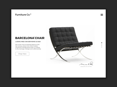 Landing Page minimal chair barcelona landing page 003 ux form daily challenge ui