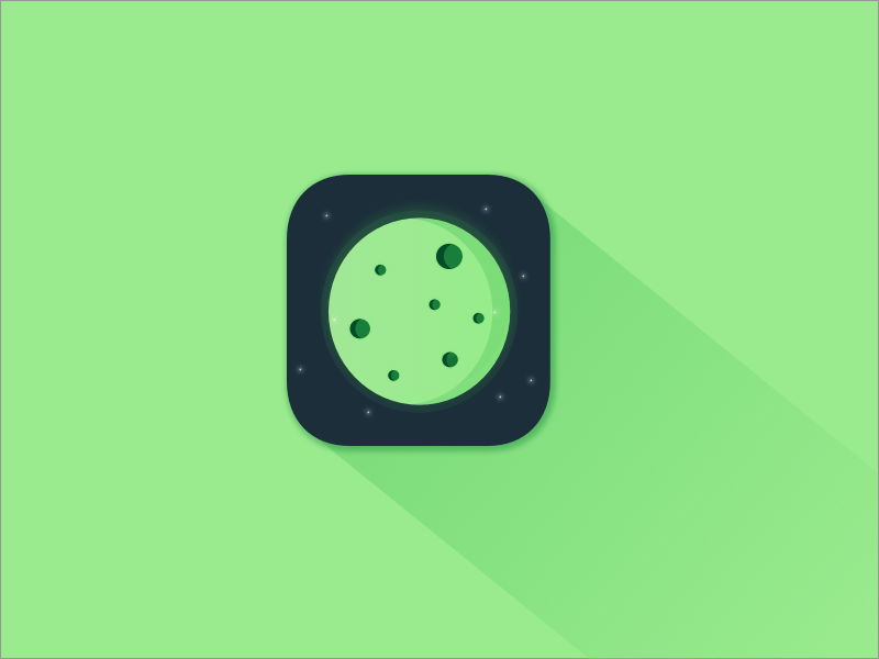 App Icon planet space shadow gradient 005 ux daily challenge ui