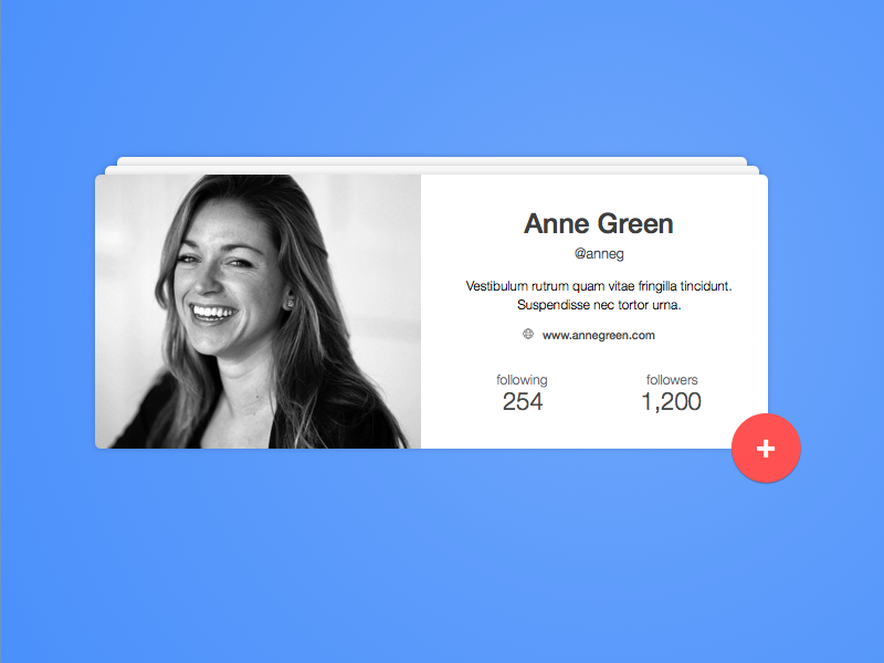 User Profile photo button material gradient numbers user profile 006 ux card daily challenge ui
