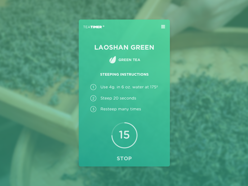 Countdown Timer ux ui tea timer daily challenge 014