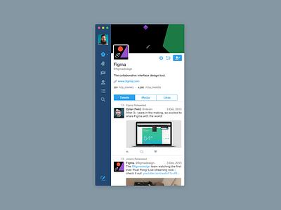 Twitter App in Figma recreation fig freebie sigma mac app twitter