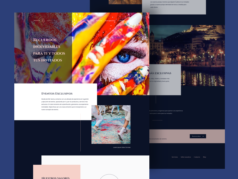 Events Agency Website event agency grid ux ui