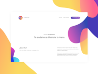 Digital Marketing Agency landing whitespace colorful minimal shapes ux ui