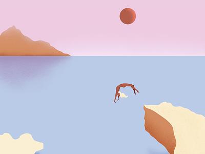 Sicily n.1 textures drawing vectors pastelcolours ocean sea landscape illustration art vectorart vectorillustration illustration
