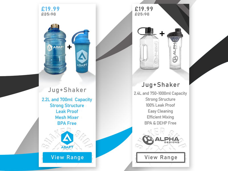 Protein Shaker Website - Side Banners