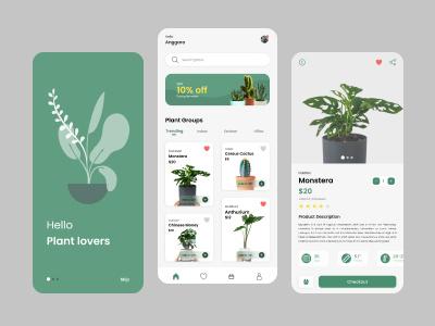 Plant Shop Mobile App ui mobile plant app ui