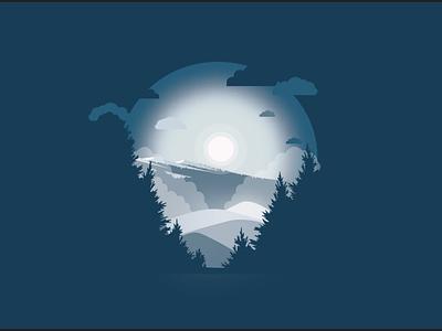 2 ème Illustration d'un paysage hivernal pour un site web de JDR