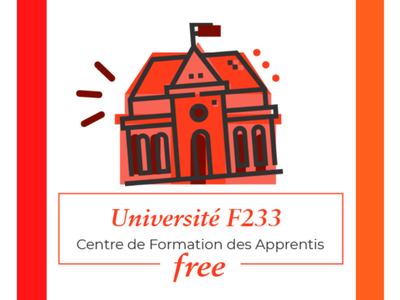 Proposition de logo pour l'Université F233, partenaire à Studi