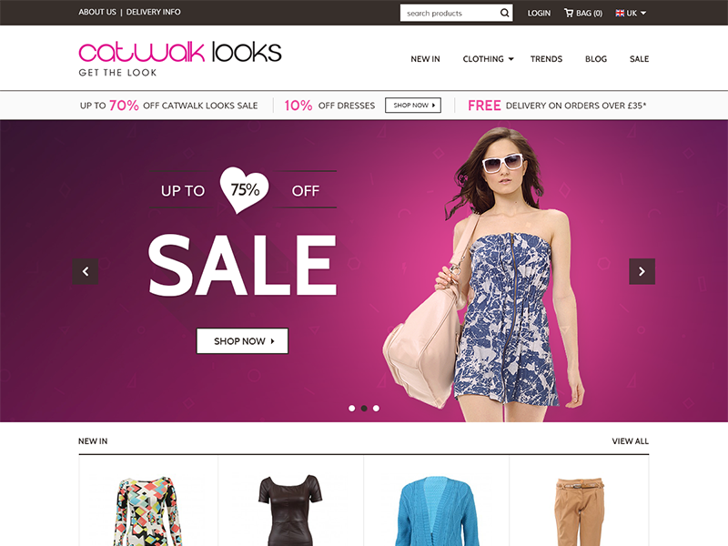 Fashion Store ecommerce prestashop products retail shopping ui fashion web design