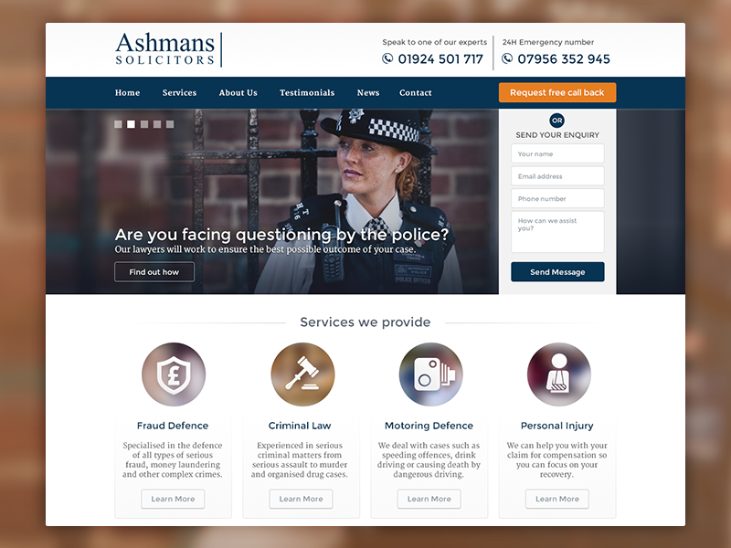 Solicitors Website interface solicitors lawyers ui legal web design