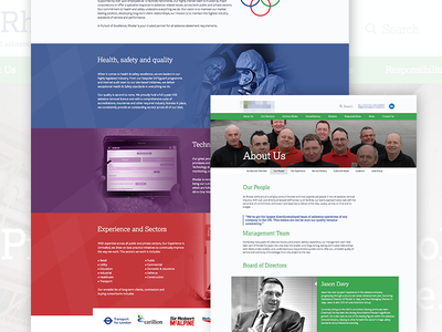 Asbestos Removal Website web design experience about team asbestos