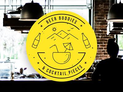 Beer buddies illustration buddies beer cocktail magnet sticker