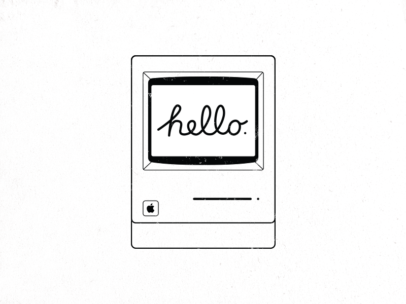 Hello Mac steve jobs computer apple classic macintosh hello