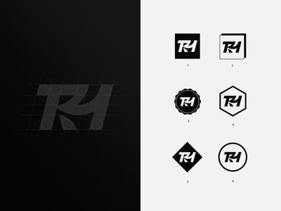 The Rarehouse - Logo Variations design marketplace mark process grid monogram logomark identity design branding logo