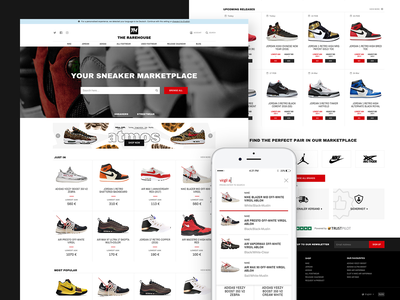 The Rarehouse - Landing Page website design nike user interface hypebeast responsive homepage shoes sneakers fashion marketplace landing page shopping ecommerce interface ui web design