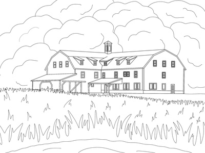 Farm Coloring Book Page illustrator illustration outline coloring book
