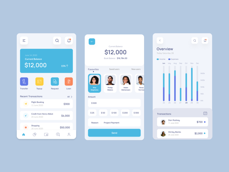 Bank Transaction Application popular bank apps popular shot popular design mobile ui mobile app mobile app design mobile design minimal clean ui clean fintech app fintech banking app bank banking bankingapp bank app
