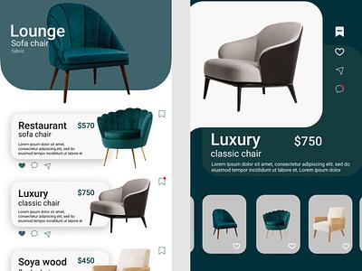 Furniture chair app design ui