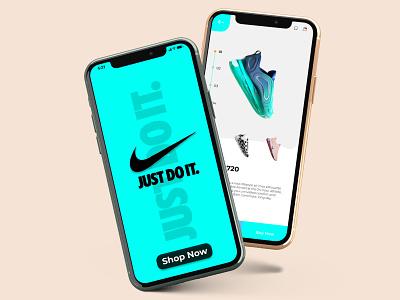 Nike footwear app branding ux ui