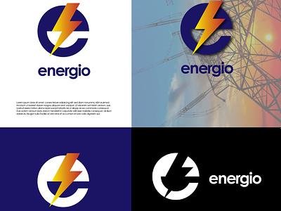 Electricity service vector branding logo