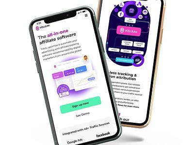 Affiliate marketing tracker prototype ui