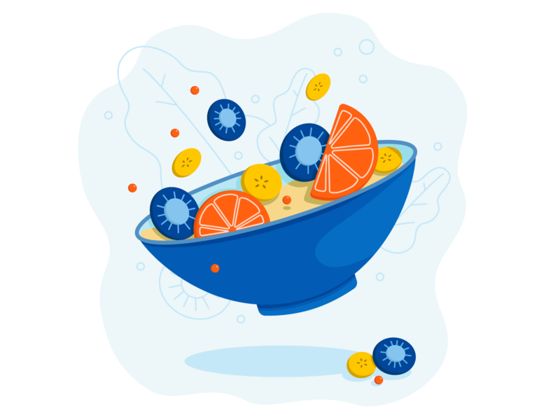 Fresh fruity 🥝 vector illustration design adobe illustrator