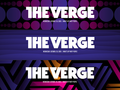 The Verge Mastheads gradient vox media 3d pattern illustration the verge