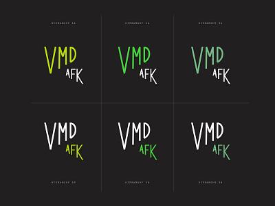 Vox Media Design AFK Branding Sketches sketch green wordmark lockup logo typography vox media