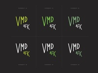Vox Media Design AFK Branding Sketches