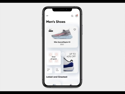 ProtoPie5.0 Competition animation animated widgets widget shopping app shopping nike app nike air nike sneakers ios app neomorphism neomorphic app ui ios figma competition