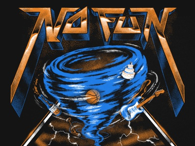 NOFUN 2020 WORLD TOUR tornado hairmetal retro illustration design tshirt