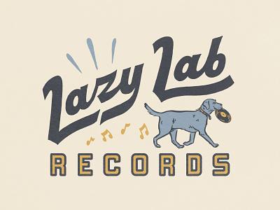 Logo Concept labrador dog illustraion lettering