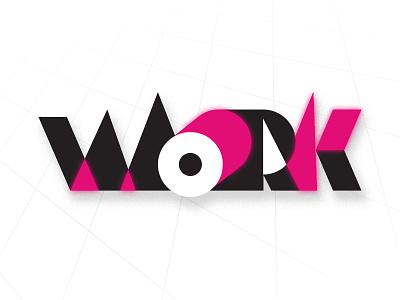 Work typography logo graphic design