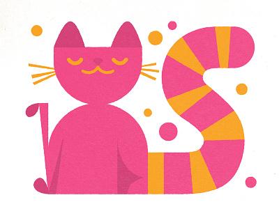 This is a cat. retro simple animal cat illustration