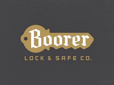 Locksmith Logo key design logo lettering typography blackletter