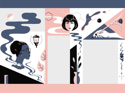 Mural Concept indoor wall mural design illustration