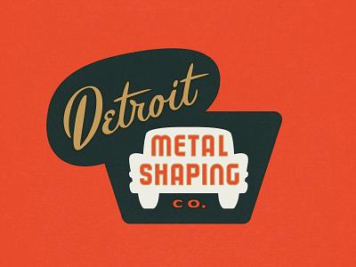 Detroit Auto Body Logo auto custom automobile detroit classic retro vintage typography lettering logo design