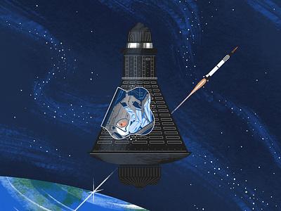 Project Mercury astronaut future project mission mercury retro vintage design illustration poster explore space nasa