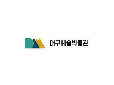 DAM Logo Concept (Horizontal) hangul korean korea colors color flatdesign branding logo graphics graphic design graphicdesign graphic flat design