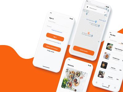 food App app ux ui design