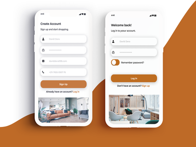 furniture app More screens ui design