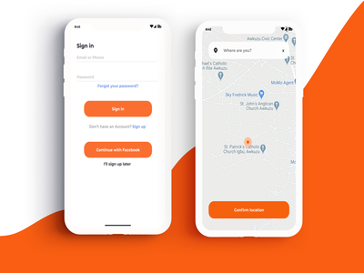 food app location tracker ui ux design