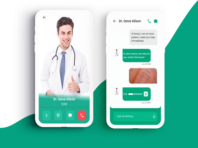 Talk to a Doctor flat illustration minimal typography mobile app mobile ui app ux design